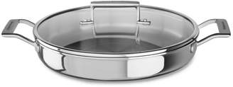 KitchenAid Tri-Ply Stainless Steel Braiser with Lid, 3.5 qt.