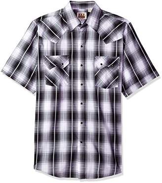 Ely & Walker Men's Short Sleeve Textured Plaids with Sawtooth Pockets