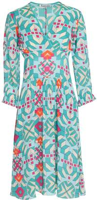Libelula Willreb Dress - Turquoise Geometric Print
