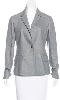 Barbara Casasola Wool Notch-Lapel Blazer w/ Tags