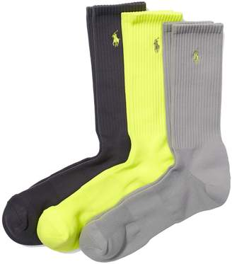 Ralph Lauren Men's Socks ATHLETIC CREW 3-Pack
