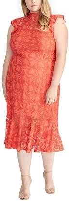 Rachel Roy Annalee Dress in Red Size 14W