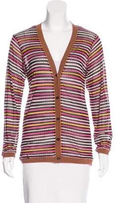 Missoni Striped Button-Up Cardigan