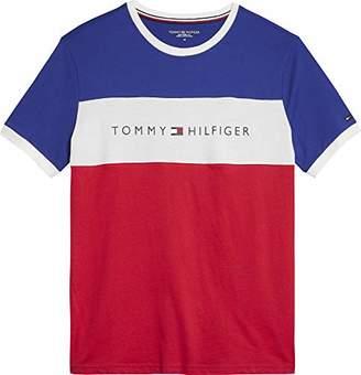 1c4a384fd85da9 Tommy Hilfiger Men's Cn Ss Tee Logo Flag T-Shirt