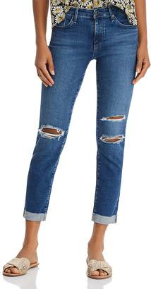 AG Jeans Prima Cuffed Slim Jeans in Crystal Clarity Destructed - 100% Exclusive