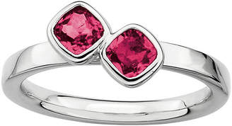 JCPenney FINE JEWELRY Personally Stackable Sterling Silver Lab-Created Ruby Ring
