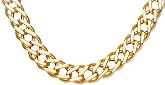 Camilla And Marc Citerna 9ct Yellow Gold Chunky Double Curb Necklace Chain - 7mm width,51 cm