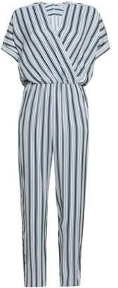 Maje Pando Striped Twill Jumpsuit