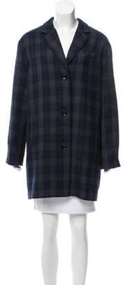 Elizabeth and James Plaid Knee-Length Coat