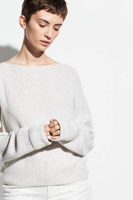 Vince Ribbed Boatneck Sweater