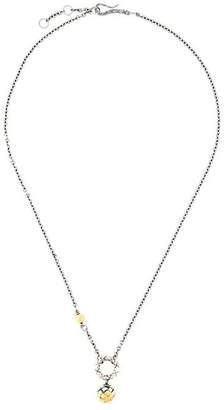 Bottega Veneta antique Intrecciato silver necklace