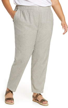 Eileen Fisher Tapered Stripe Organic Cotton Blend Pants