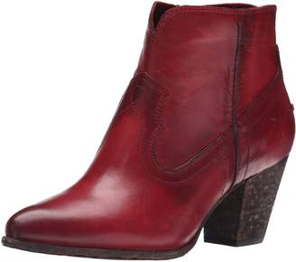 Frye Women's Renee Seam Short Boot, Burgundy