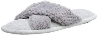 Isotoner Women's Ladies Popcorn C/Strap Slippers Open Back (Pale Grey), 39 EU