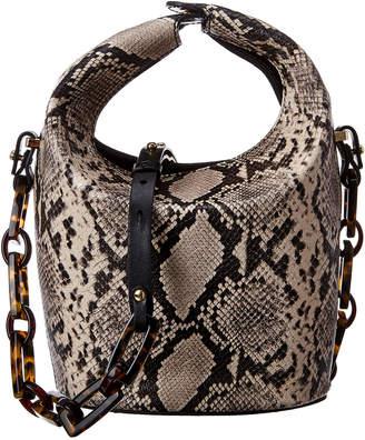 Nico Giani Kalea Top Handle Snake-Embossed Leather Bucket Bag