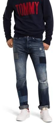 Tommy Hilfiger Regular Rise Patchwork Slim Fit Jean