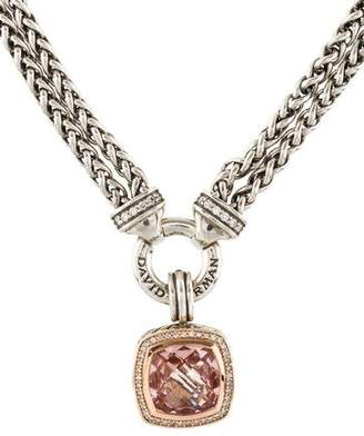 David Yurman Morganite & Diamond Albion Pendant Necklace