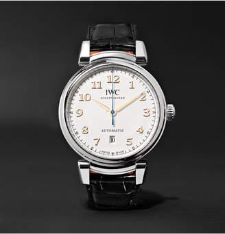 IWC SCHAFFHAUSEN Da Vinci 40mm Stainless Steel And Alligator Watch