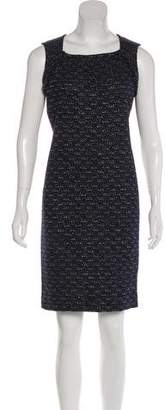 St. John Metallic Wool-Blend Dress