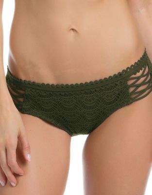 Becca by Rebecca Virtue Crisscross Lace Bikini Bottom