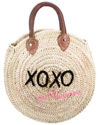 Poolside Straw XOXO Tote