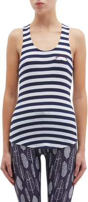 8ed1d16901d7a The Upside  Faye  stripe rib knit racerback tank top
