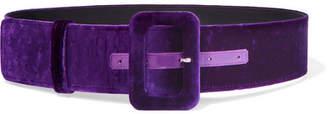 ATTICO Velvet Waist Belt - Purple