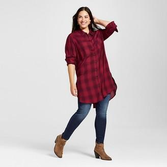 Women's Plus Size Plaid Button Down Tunic - Ava & Viv  $27.99 thestylecure.com