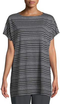 Eileen Fisher Varied Stripe Linen Tunic