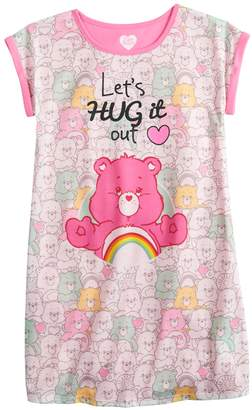 """Girls 4-10 Care Bears Cheer Bear """"Let's Hug it Out"""" Nightgown"""