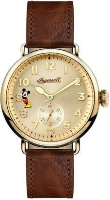 Ingersoll WATCHES Trenton Disney Leather Strap Watch, 44mm
