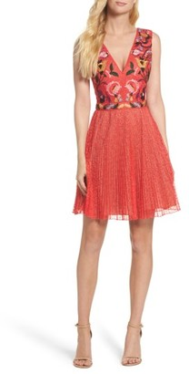 Women's French Connection Lace Fit & Flare Dress $248 thestylecure.com