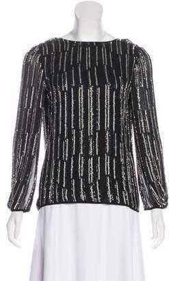 Diane von Furstenberg Beaded Silk Top