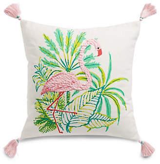 Martha Stewart Flamingo Square Cotton Cushion