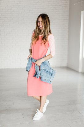 Baseball Dress - Pink $39.99 thestylecure.com