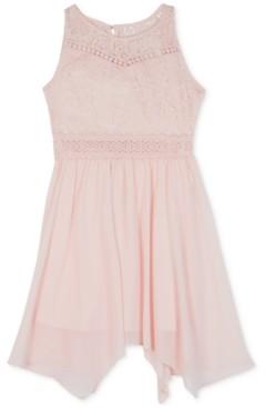 BCX Big Girls Plus Lace Handkerchief Hem Dress