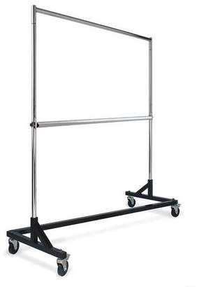 Econoco - RZH/62 - Chrome Add-On Hangrail for RZK/8 Rolling Rack - Sold in Pack of 6