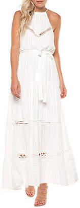 Dex Tie-Waist Halter Maxi Dress