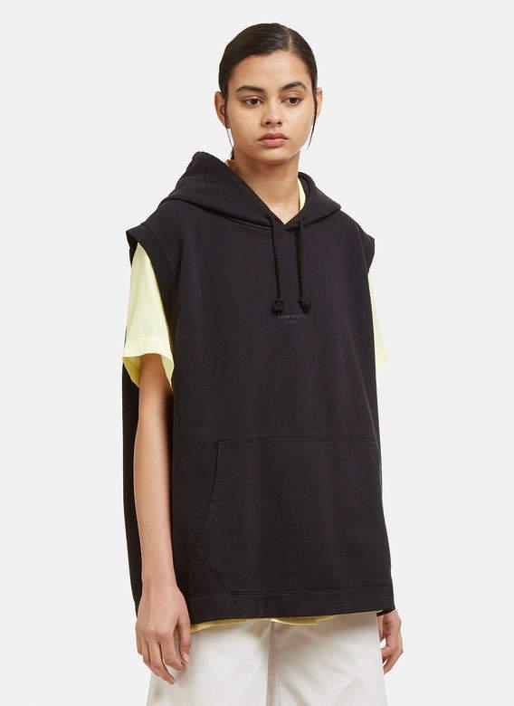 Sleeveless Odario Sweatshirt in Black