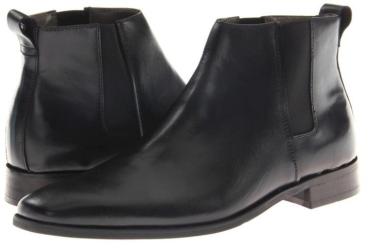 Calvin Klein Galen Boot (Black Dress Calf) - Footwear
