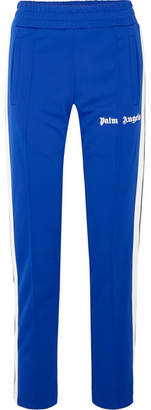 Palm Angels Striped Satin-jersey Track Pants - Royal blue