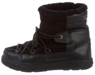 Moncler Moncler Fanny Shearling Ankle Boots