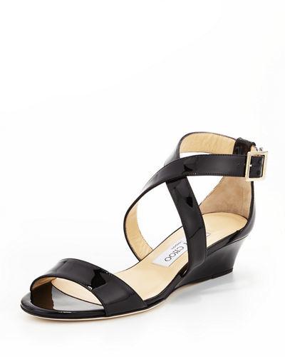Jimmy ChooJimmy Choo Chiara Demi-Wedge Crisscross Sandal