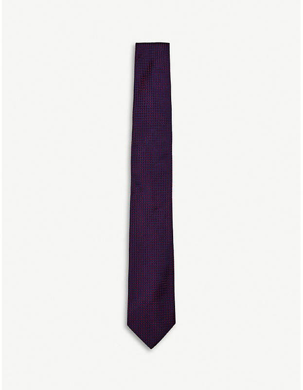 Knightley check-print silk tie