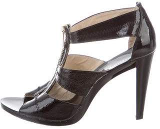 Michael Kors Michael Patent Leather Multistrap Sandals