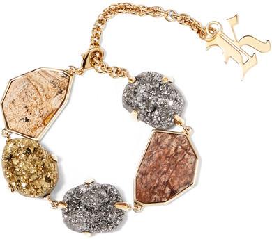 Christopher KaneChristopher Kane - Gold-tone Stone Bracelet - one size