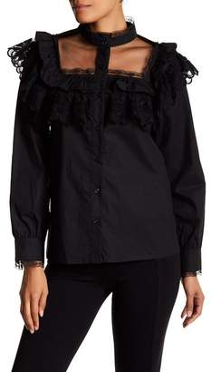 TOV Illusion Yoke Lace Shirt