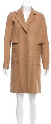 Nellie Partow Knee-Length Notch-Lapel Coat