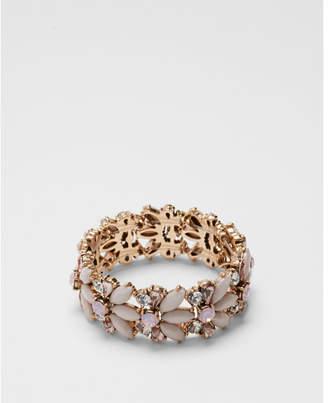 Express mixed stone stretch bracelet