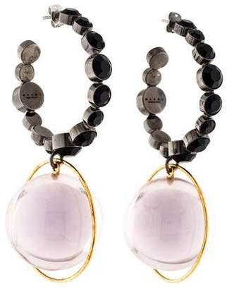 Marni Crystal & Resin Hoop Earrings
